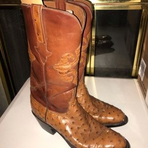 Lucchese Ostrich Skin Boots